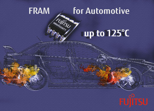 New FRAM solution for automotive applications from Fujitsu